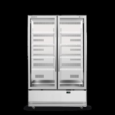 SKOPE SKB1200N-A 2 Glass Door Display or Storage Fridge