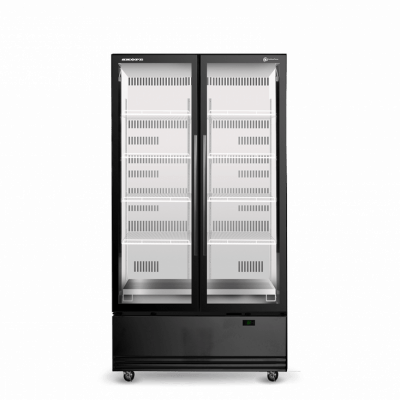 SKOPE SKB900N-A 2 Glass Door Display or Storage Fridge