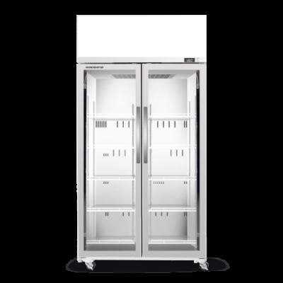 SKOPE TCE1000N 2 Glass Door Display or Storage Fridge with EZICORE