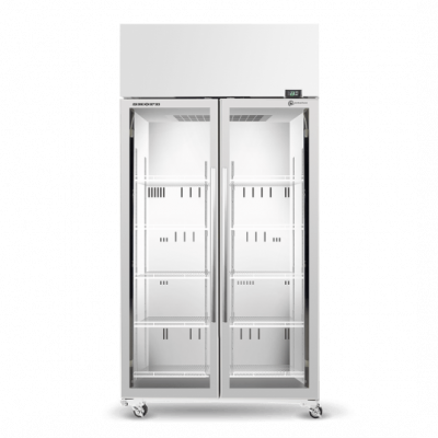 SKOPE TME1000N-A 2 Glass Door Display or Storage Fridge