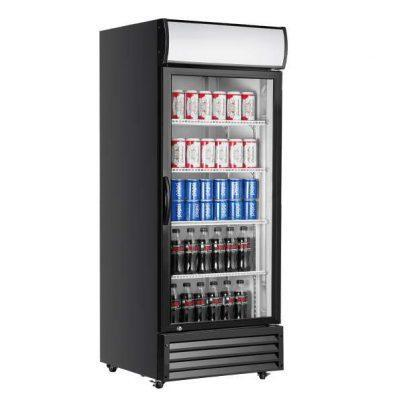 ATOSA P600WB 600LITRE SINGLE GLASS DOOR UPRIGHT FRIDGE IN BLACK