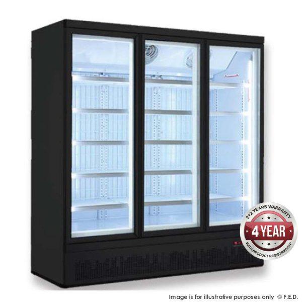 FED LG-1500BGBMF Triple Door Supermarket Freezer 1480Litres