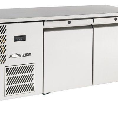 Williams LO2USS Opal 1x1 GN 2 Door Foodservice Counter Freezer