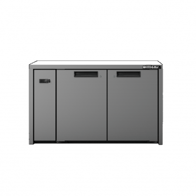 Williams HO2RSS Opal 2 Door Stainless Steel Remote Under Counter Storage Refrigerator