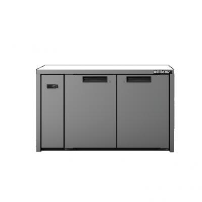 Williams LO2RSS Opal 2Door Stainless Steel Remote Under Counter Storage Freezer
